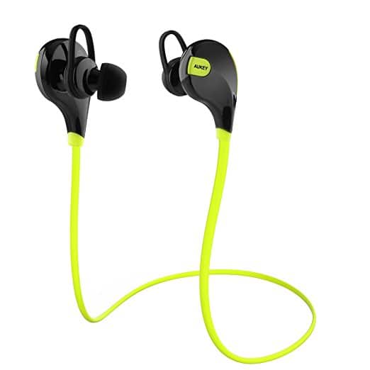 Aukey Wireless Bluetooth 4.1 Sports Headphones (Green/Black)  $10