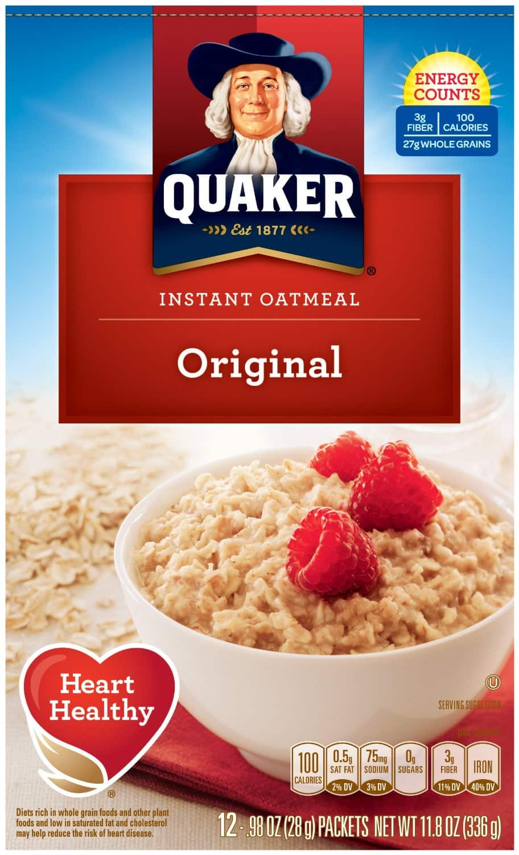 4 Pack Quaker Instant Oatmeal (( Strawberries & Cream, Apples & Cinnamon, Raisin Date & Walnut, Peaches & Cream + MORE)  $6.50 Via Amazon S&S
