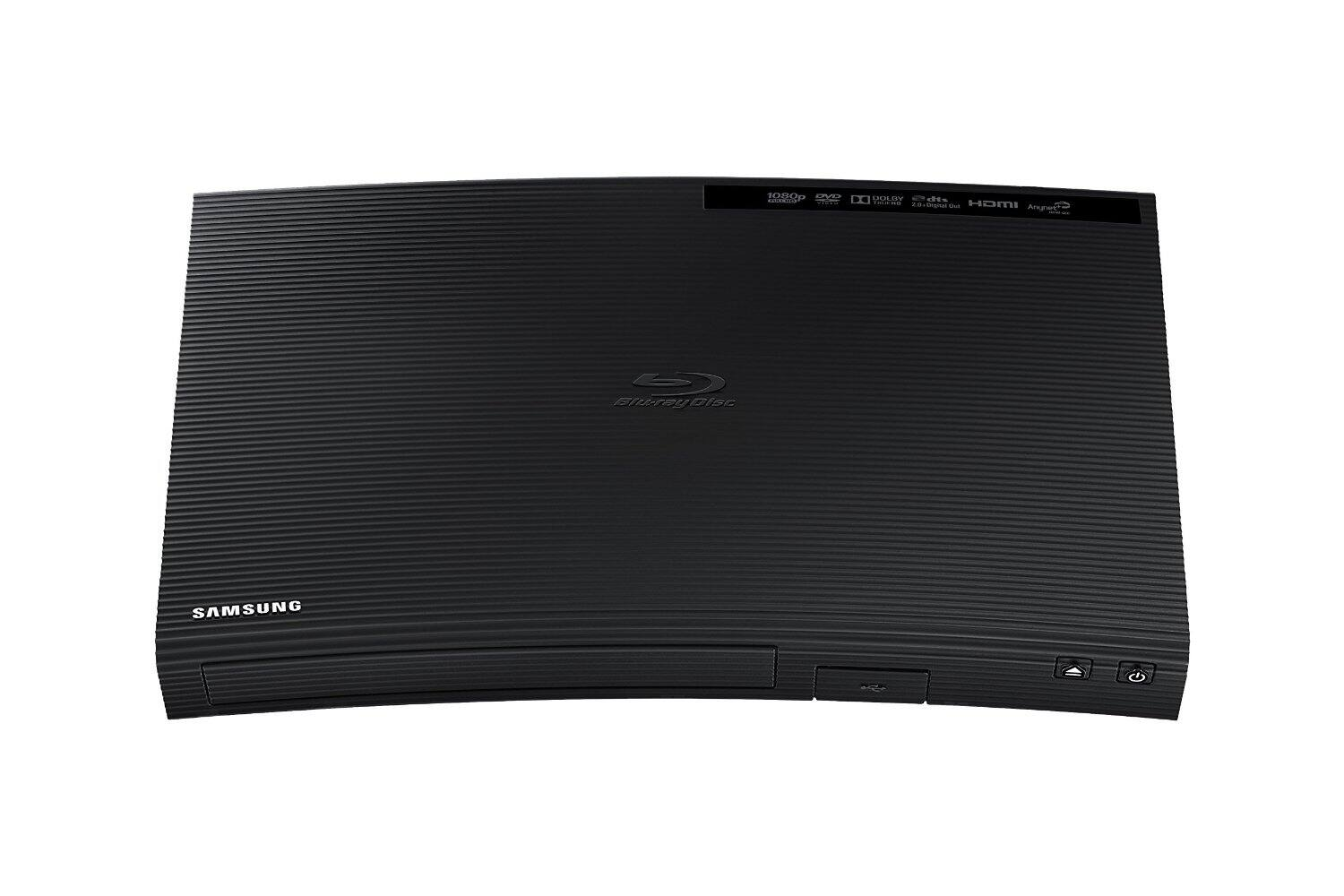 """Samsung BD-J5100 Curved Blu-ray Player (""""Used-Very Good"""" Condition, 2015 Model) from $23.60 at Amazon Warehouse Deals, Free ship with prime or on orders over $49"""