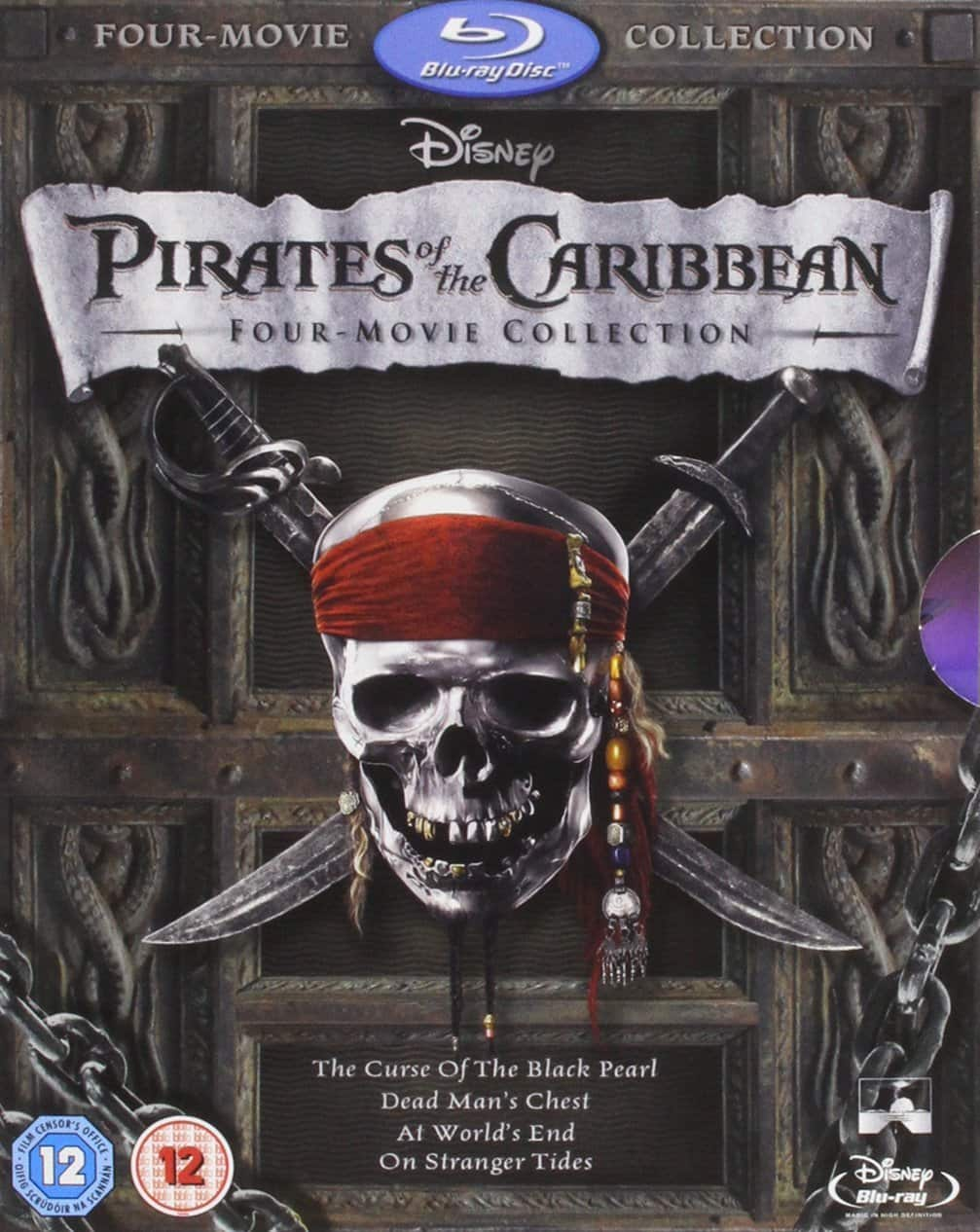 Region Free: Pirates of the Caribbean: Four-Movie Collection (Blu-ray) $14.43 Shipped