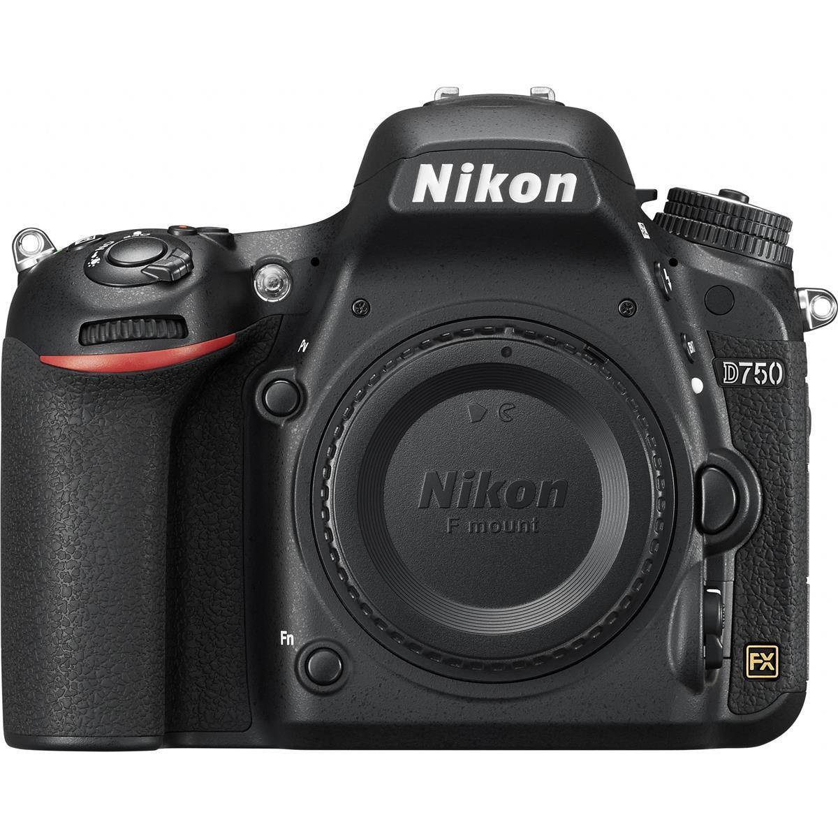 Nikon D750 Full Frame DSLR Camera (Body Only, Refurbished)  $1399 + Free Shipping