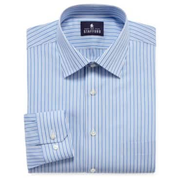 Stafford men 39 s big tall travel easy care broadcloth for Stafford big and tall shirts