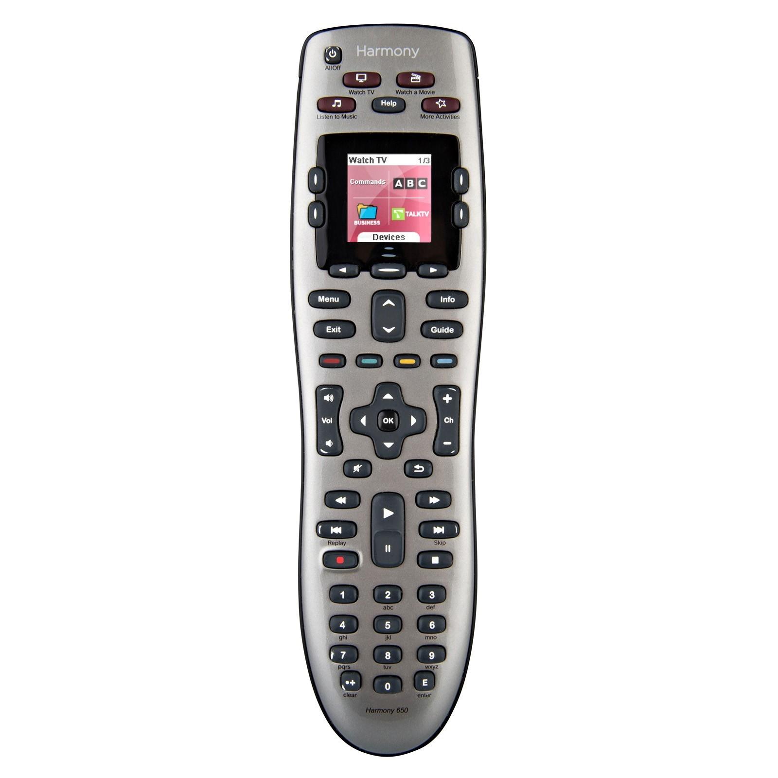 Logitech Harmony 650 Universal Remote Control Refurbished