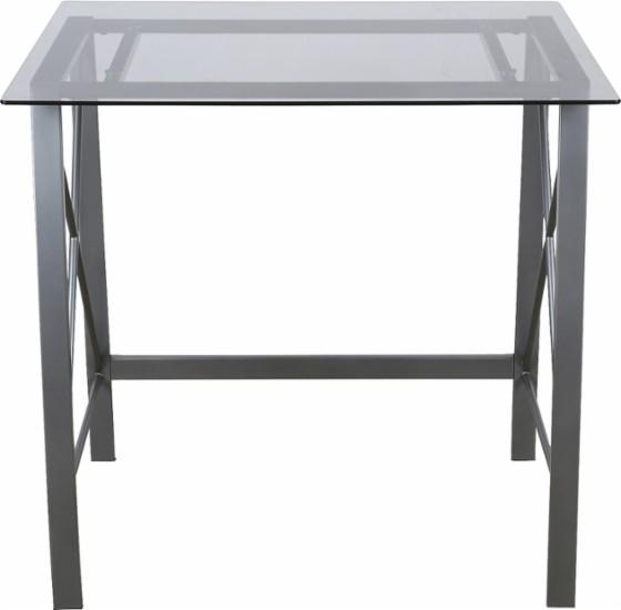 Bell O Metal Glass Computer Desk Silver Slickdeals Net