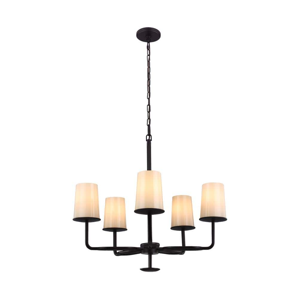 Feiss huntley 5 light oil rubbed bronze chandelier slickdeals deal image arubaitofo Images