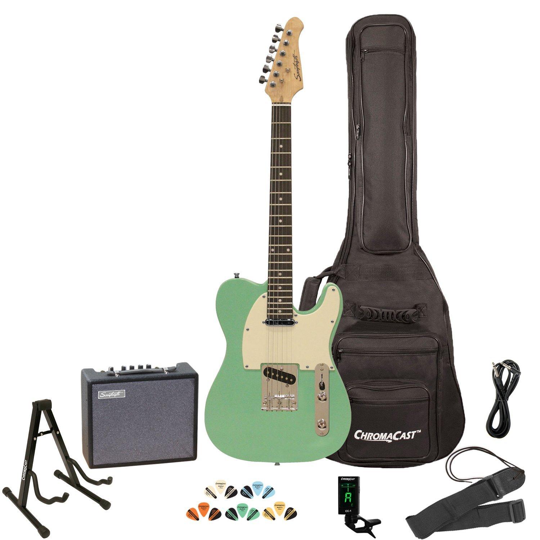 sawtooth et series electric guitar kit right handed surf green. Black Bedroom Furniture Sets. Home Design Ideas