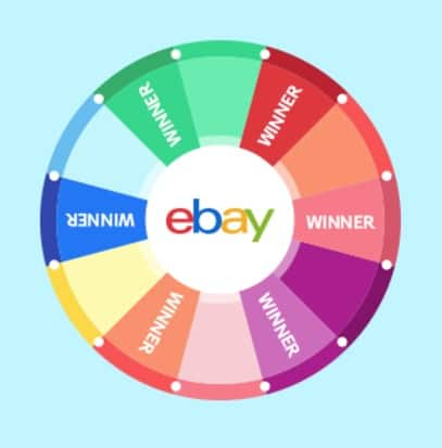 eBay Sell and Spin Game: 2x $5 eBay Gift Cards - Slickdeals net
