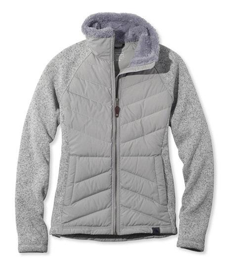 L.L.Bean Women s Sweater Fleece Down Jacket (Pewter) - Slickdeals.net 6c8ef9a6b
