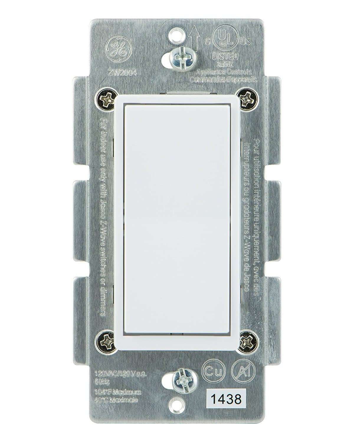 Ge Add On Paddle Switch For Z Wave Lighting Controls Wiring Light With Neutral Zwave Home Deal Image