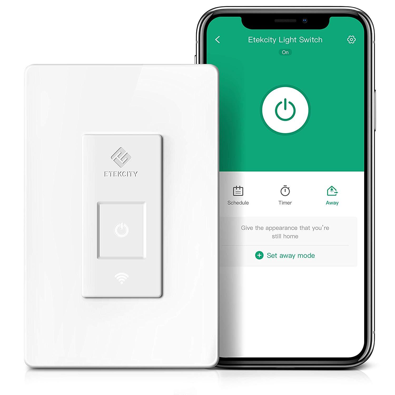 Smart Light Switch by Etekcity , WiFi Inwall Switch with Timer 15A/1800W, ETL/FCC Listed $12.99