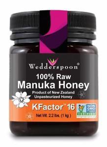 Genuine Raw New Zealand Manuka Honey 2.2 lb (1 kg) $45.06