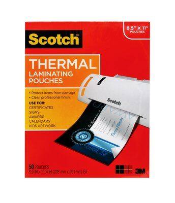 Scotch Thermal Laminator (TL902) PLUS 52 Letter Size Sheet Pouches $19.99