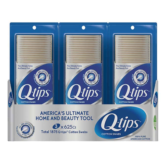 Q-Tips Cotton Swabs 3 Pack Of 625ct From Costco.com W FS