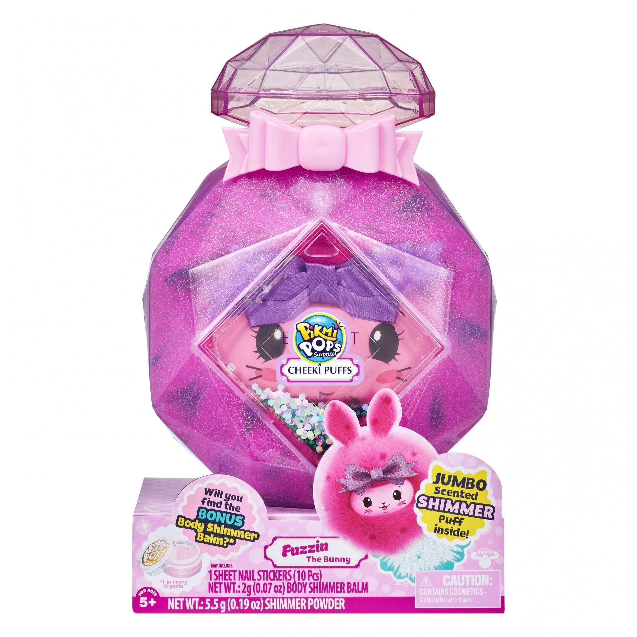 """Pikmi Pops Cheeki Puffs - Fuzzin the Bunny Large 7"""" Collectible Scented Shimmer Plush Toy in Perfume with Surprises for $9.99 Retail $24.99"""