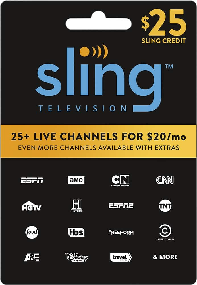 Free $5 Best Buy Gift Card w/ Purchase of $50+ Sling TV Gift Cards