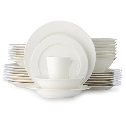 Food Network Ripple 40-pc. Dinnerware Set + $5 Kohl's Cash [YMMV] + 68 Yes2You Reward Points (~$3 Value):: $33.99 w/ Store Pickup @ Kohls