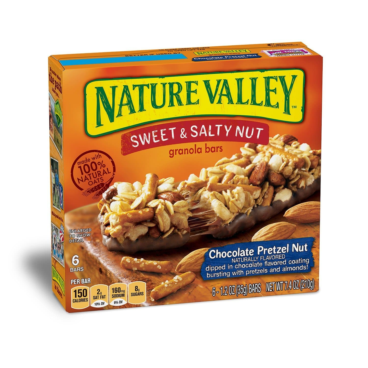 72 Count Nature Valley Granola Bars Sweet and Salty Nut, Chocolate Pretzel Nut:: $22.50 @ Amazon
