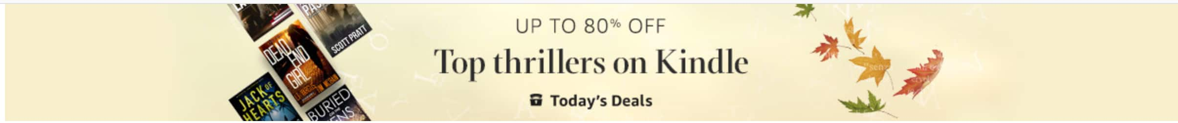 Deal of the Day: $0.99 - $3.99 Select Top Thrillers on Kindle @ Amazon
