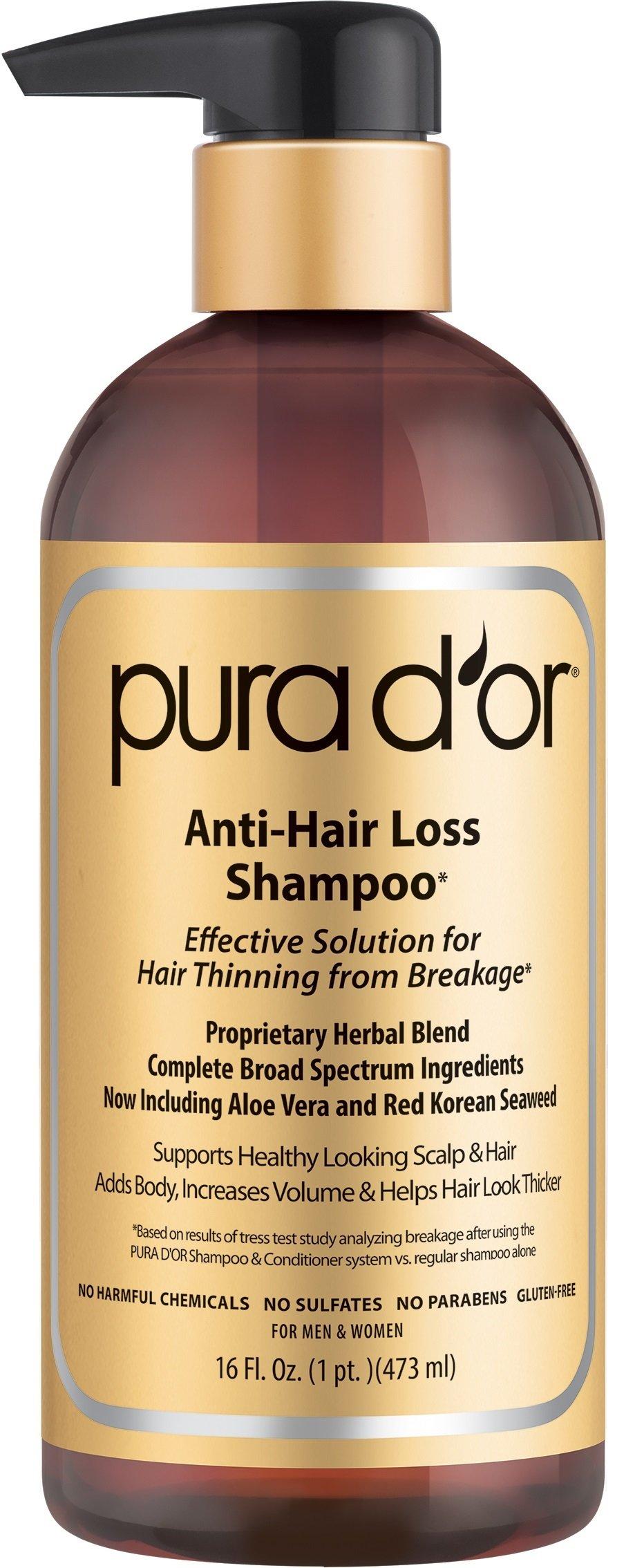 Pura d'or Advanced Therapy System Shampoo & Conditioner Bundle $30 24 Oz Costco
