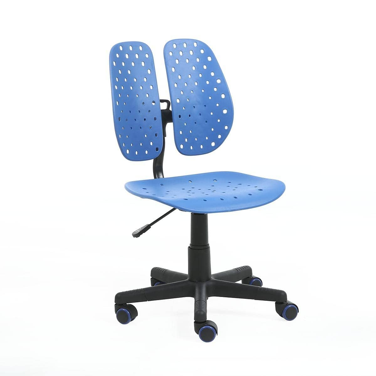50% OFF SAVE $80!! DaKang Modern Mid Double Back  Ergonomic Office Chair  with Lumbar Support (Blue) $79.99
