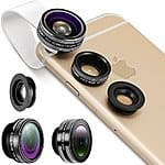 Neewer 3-In-1 Lens Kit Clip-On Fisheye Lens + 0.67X Wide Angle + 10X Macro Lens Apple iPhone, iPad, Samsung Galaxy, Note - $11.99 AC @ Amazon