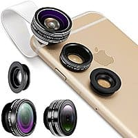 Amazon Deal: Neewer 3-In-1 Lens Kit Clip-On Fisheye Lens + 0.67X Wide Angle + 10X Macro Lens Apple iPhone, iPad, Samsung Galaxy, Note - $11.99 AC @ Amazon
