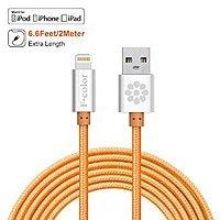Amazon Deal: Fcolor Orange 6ft Nylon Braided Lightning to USB Cable Apple MFi Certified - iPhone 6 6 Plus 5 5s 5c, iPad Air 2 Mini, iPod 5 - $9.99 AC @ Amazon