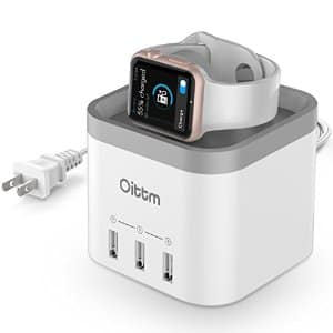 30% off Apple Watch Stand, Oittm [2 in 1] 4 Ports USB 3.0 Hub Desktop Smart Charging Station - $24.5 AC+FS @ Amazon
