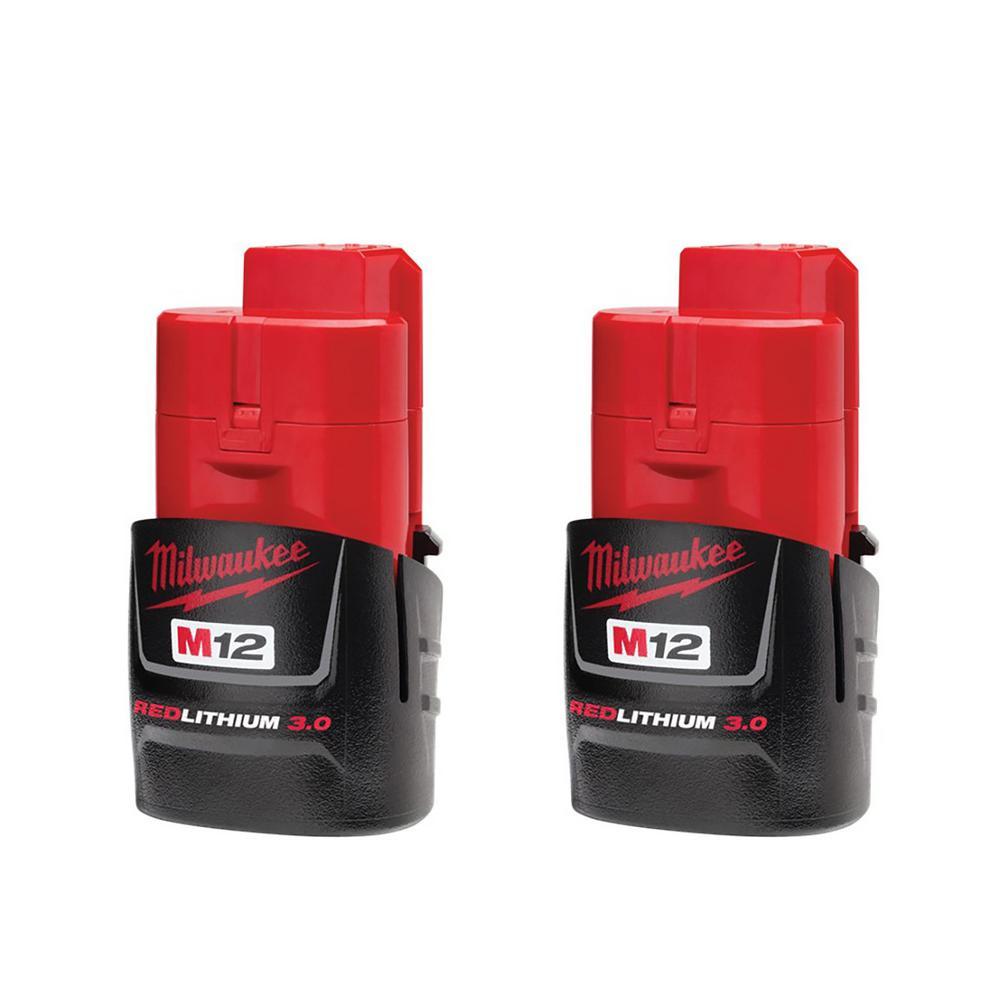 Milwaukee M12 3.0 batteries 2-pack $56 Home Depot