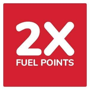 2X fuel points at Kroger on regular purchases on weekends in May. 5/6/21 thru 5/30/21