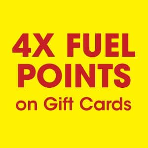 Get 4X fuel points at Kroger on gift cards. Expires 9/21/21