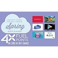 Kroger Deal: Kroger 4X Fuel Rewards returning March 22 2015- April 5 2015 on hundreds of Gift Cards.   INCLUDES    QFC, Dillons, Smiths, Fry's and King Soopers.
