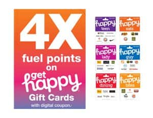 4X fuel points at Kroger on all HAPPY gift cards thru 8/27/19