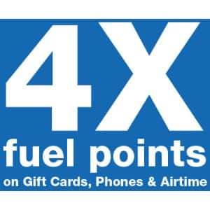 4X fuel points at Kroger on gift cards,phones and airtime thru 9/28/19