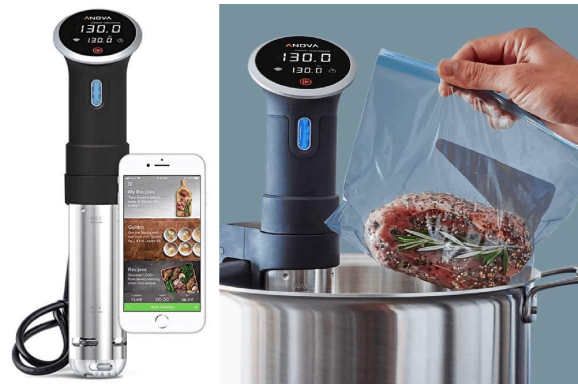 Amazon Anova Culinary AN500-US00 Sous Vide Precision Cooker (WiFi), 1000 Watts $127.49