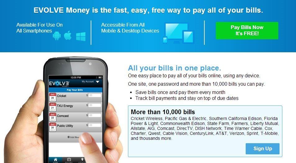 $10 Evolve Bill Payment Credit