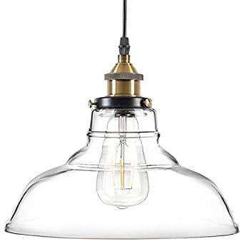 Industrial/ Vintage Style 1-Light Pendant Glass Hanging Light $24.99