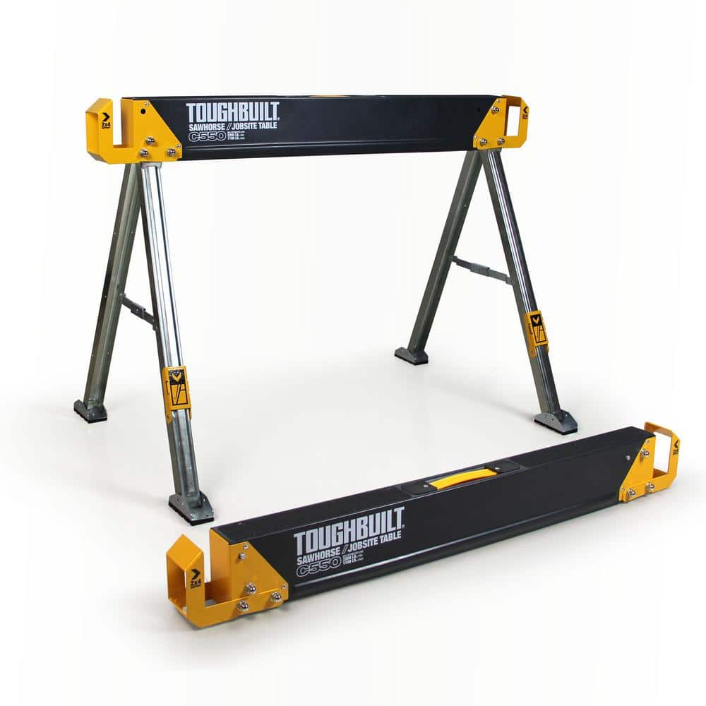 42.4 in. W x 28.8 in. H Steel Sawhorse and Jobsite Table – 1100 lb. Capacity $29.97