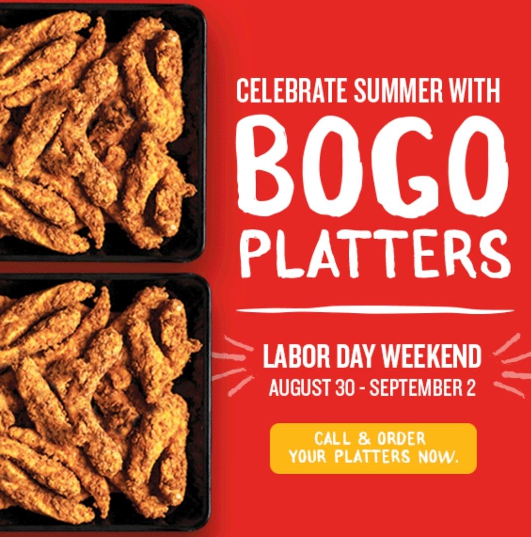PDQ Labor Day BOGO Platters: Buy  1 Get  1 free