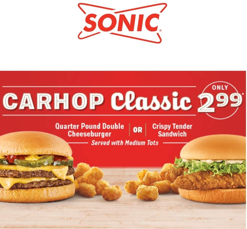 Crispy Tender Sandwich or Quarter Pound Double Cheeseburger for $2.99