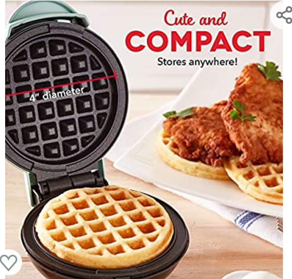 Dash Mini Waffle Maker Machine for $9.99