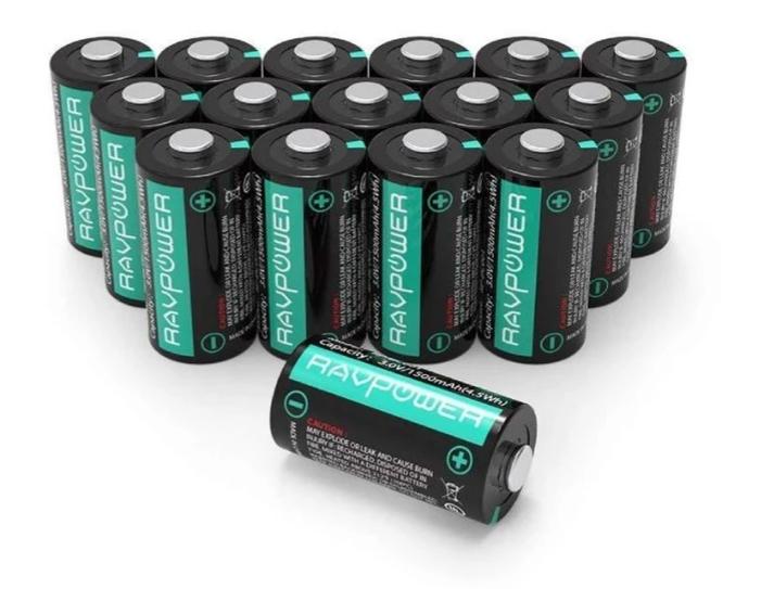 16-Pack 1500mAh Each CR123A 3V Lithium Battery for $18.99
