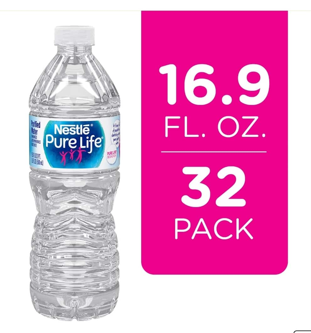 Nestle Pure Life Purified Water (Pack of 32) for $3.98