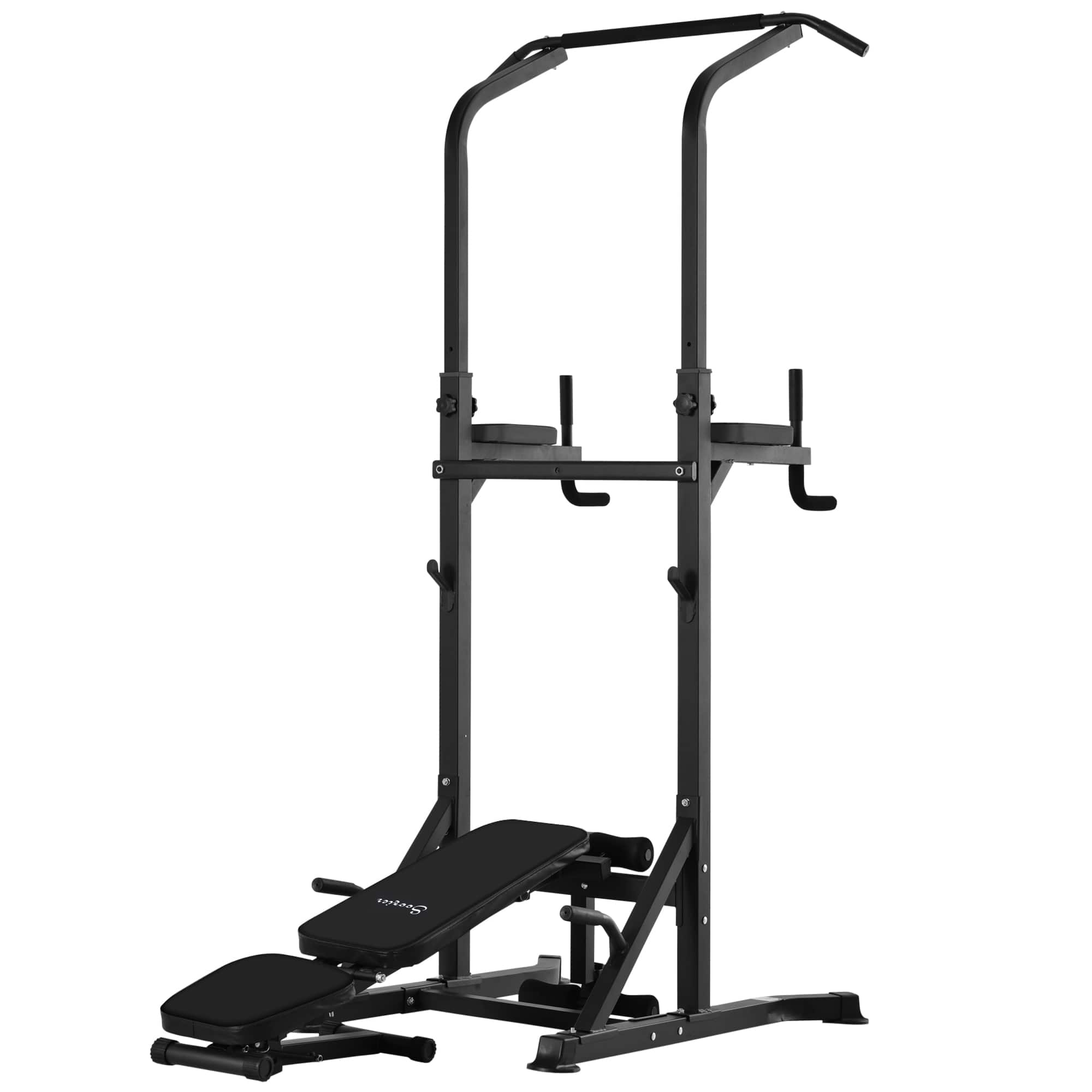 Adjustable & Folded Dip Stands Multi-Function Pull-ups Sit-ups, Fitness Tools Gym $89.99