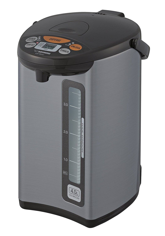 Zojirushi CD-WCC40 Micom Water Boiler & Warmer, Silver $101.99