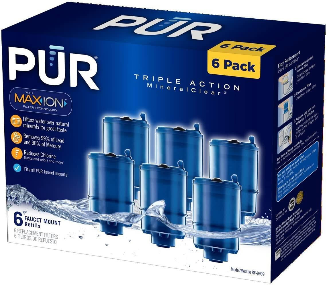 PUR MineralClear Faucet Refill RF-9999 6 Pack $35.59