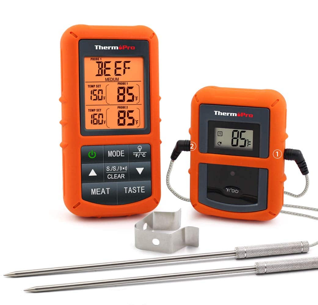 ThermoPro TP20 Wireless Remote Digital Cooking Food Meat Thermometer with Dual Probe for Smoker Grill BBQ Thermometer $41.99