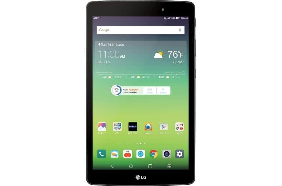 """LG G Pad X 8.0 V520 32GB Wi-Fi + 4G LTE Cellular (AT&T Unlocked) 8"""" Tablet - $133 + Free Shipping"""