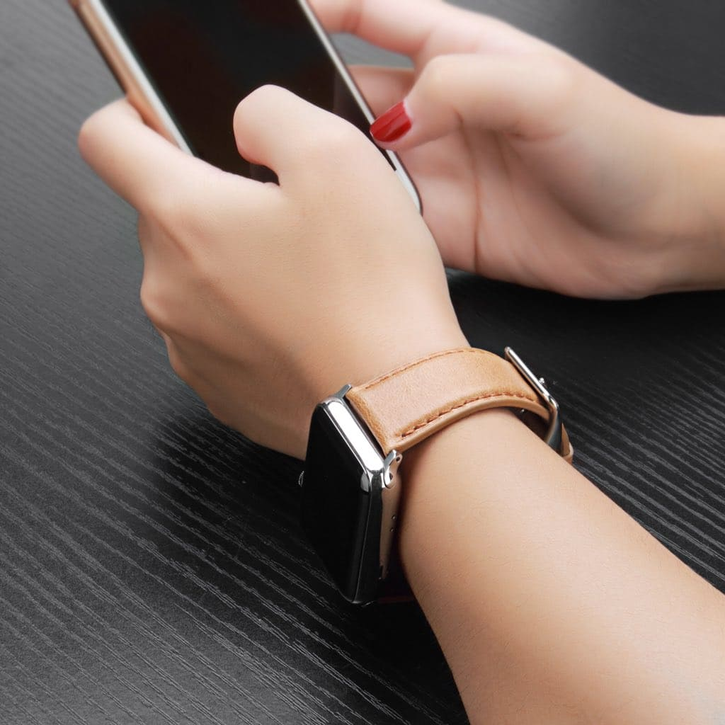 $8.64 Benuo Apple Watch Genuine Leather Band for Series 3/2/1-Free Shipping @Amazon