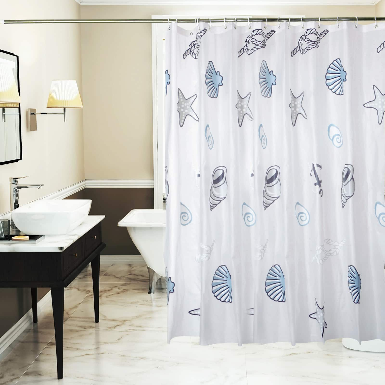 Get a Yivion Mildew Resistant Waterproof Shower Curtain with 12 Curtain Hooks for ONLY $6.99  After Stacking Promotions!